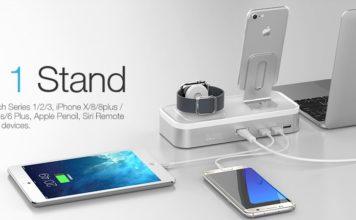 【レビュー】iPhone & Apple Watchユーザーにおすすめ!「Oittm Apple Watch/iPhone/iPad対応 多機能充電スタンド」はデスク周りがスッキリしていい感じ!