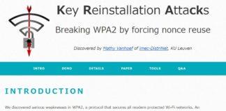 WPA2の脆弱性「KRACK」への対処パッチ、Microsoftは対応済み、AppleのOSとAndroidは数週間中に提供予定。ルータのファームウェアアップデートも忘れずに。