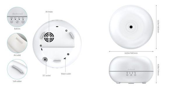 「dodocool 超音波式加湿器 300ml 7色LEDライト付き DA54」の特徴/仕様