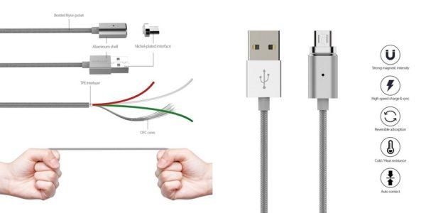 「dodocool USB Type-Cケーブル マグネット式 1.2m DA125」の特徴/仕様
