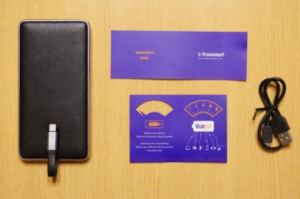 「Tronsmart Prime 10000 モバイルバッテリー PB10L」のセット内容