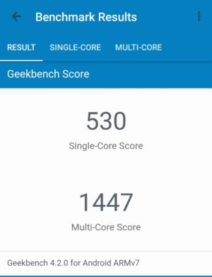 「Geotel Note」のGeekBench 4 スコア
