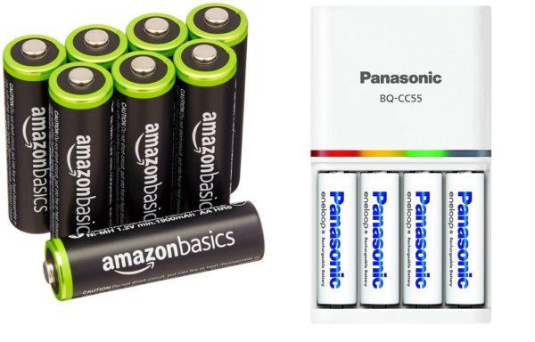 Amazonベーシック 充電式ニッケル水素電池 単3形8個パック + パナソニック 急速充電器 単3形・単4形 BQ-CC55