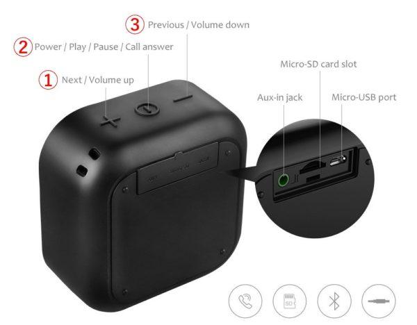 「MIFA Bluetooth ポータブルスピーカー A1」の使い方&Bluetoothペアリング方法解説