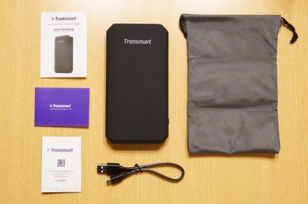 「Tronsmart Edge 20000mAh モバイルバッテリー PBT20+」のセット内容