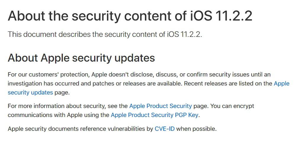 Appleが「iOS 11.2.2」の配信を開始!重要なCPU脆弱性対策が施されているので、今すぐ全ユーザーアップデートを!