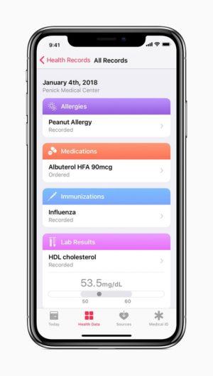 ヘルスケアアプリケーション内での健康の記録
