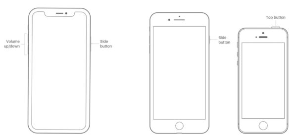 iPhoneを再起動させる方法