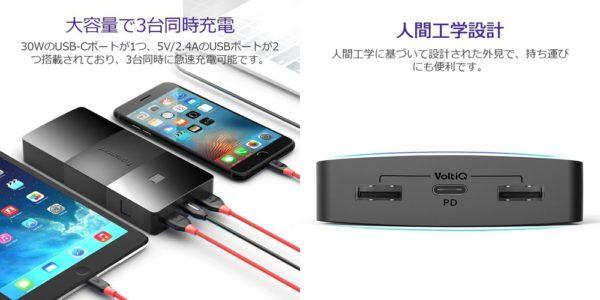 「Tronsmart Brio 20100mAh モバイルバッテリー」の使い方&充電状況検証