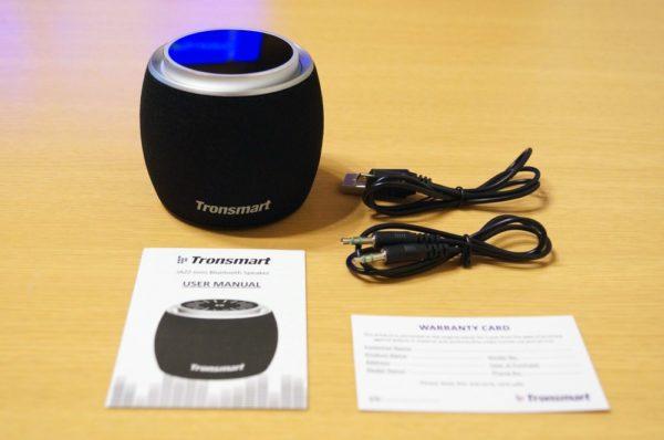 「Tronsmart Jazz mini Bluetooth スピーカー」のセット内容