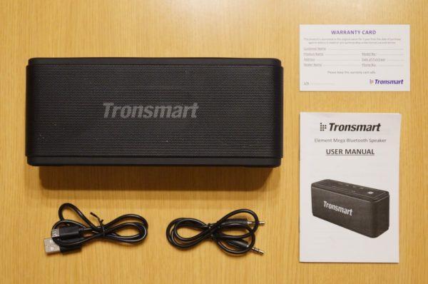 「Tronsmart Mega Bluetooth スピーカー」のセット内容