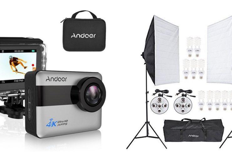 Andoerのスポーツアクションカメラや写真撮影用機材セットがお買い得!Amazonの割引クーポンを頂きました!