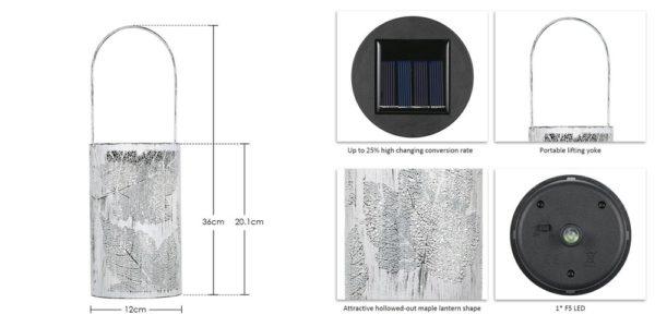 「Tomshine LED ソーラーライト」の特徴/仕様