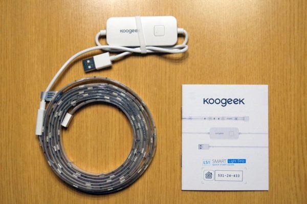 「Koogeek スマート LED テープライト LS1」のセット内容