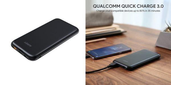 【新製品/台数限定】AUKEY モバイルバッテリー 10000mAh Power Delivery/Quick Charge 3.0 対応/ USB TYPE C搭載 PB-Y13