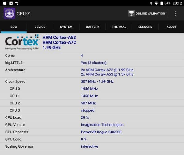 「CHUWI Hi9」のAntutu, Geekbench4スコア