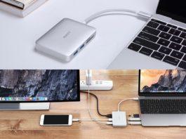 【200台限定】MacBook Proにおすすめ!PDにも対応した「AUKEY USB-C 7ポートハブ」が5月10日までクーポン利用で20%オフ!
