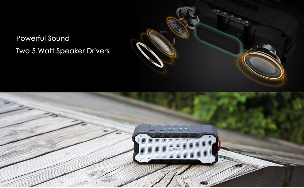 【300台限定】「AUKEY Bluetooth 防水スピーカー SK-M12」が6月12日まで、クーポン利用で57%オフの2000円に!