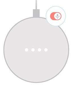 「Google Home Mini」本体の基本的な操作方法