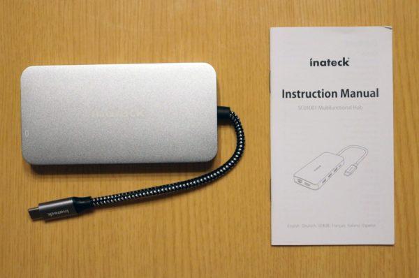 「Inateck 9ポート アルミ USB-Cハブ」のセット内容