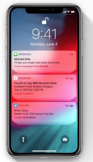 iOS 12 通知機能のカテゴリー化