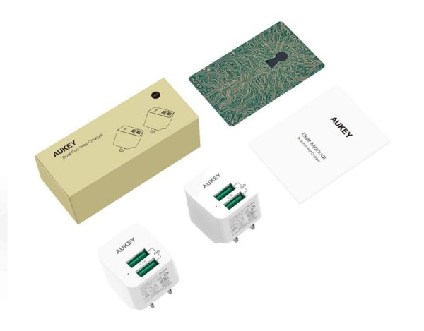 「AUKEY USB充電器 PA-U32 2個セット」商品内容