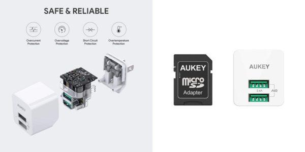 「AUKEY USB充電器 PA-U32 2個セット」商品仕様