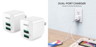 【各色1000台限定】管理人も愛用中!大人気「AUKEY USB充電器 PA-U32 2個セット」がクーポン利用で7/15(日)より25%オフ!