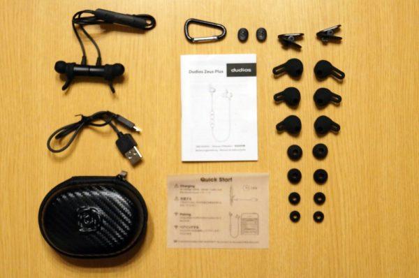 「Dudios Zeus Plus Bluetooth イヤホン」製品パッケージ