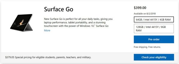 Surface Go 日本での発売日は?