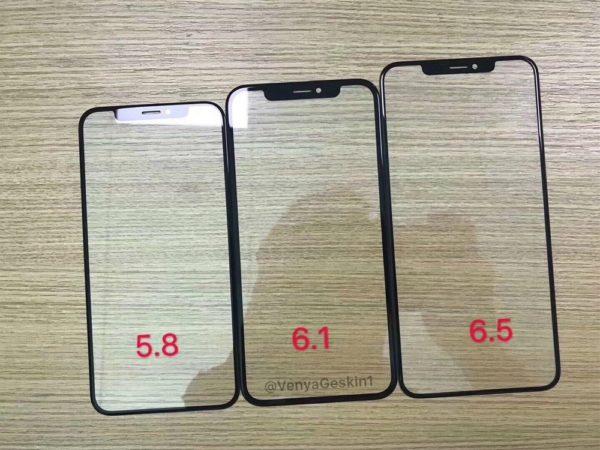 新型iPhone 2018年モデルと思われるフロントパネルがリークされる。