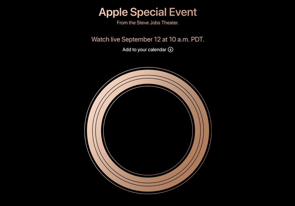 新型iPhone発表イベントは日本時間9月13日午前2時!iPhone XS大小とiPhone 9、Apple Watch Series 4などが発表か。
