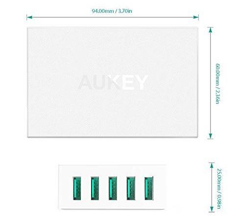 「AUKEY 5ポートUSB充電器 PA-U33」商品仕様