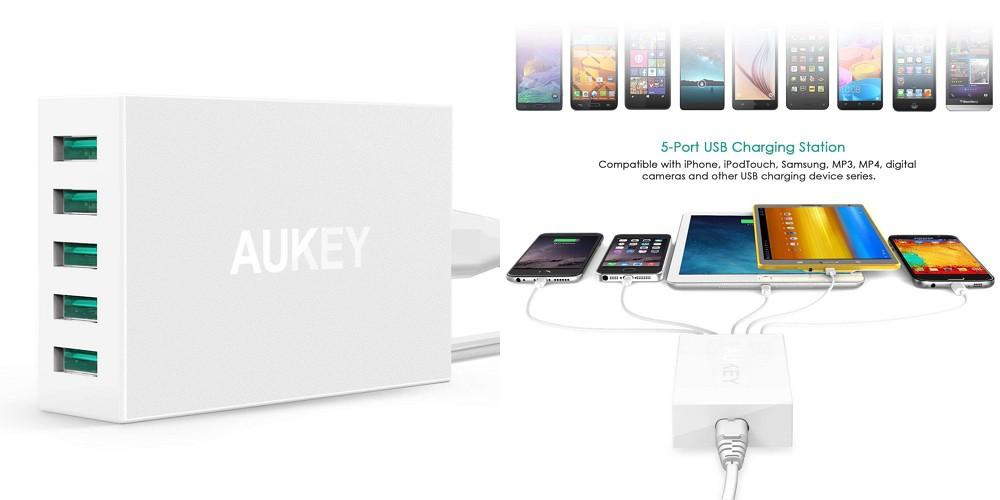 【400台限定】AUKEYの定番人気商品「AUKEY 5ポートUSB充電器 PA-U33」がクーポン利用で25%オフ!8月24日まで!