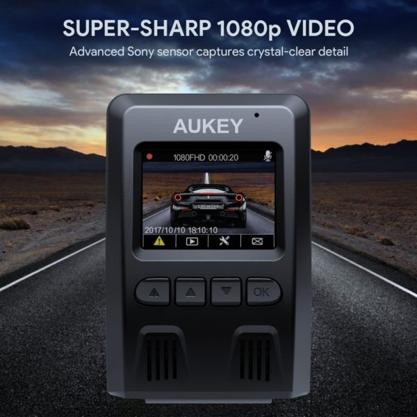 「AUKEY ドライブレコーダー 前後カメラ FHD DR02D」商品特徴:超高画素