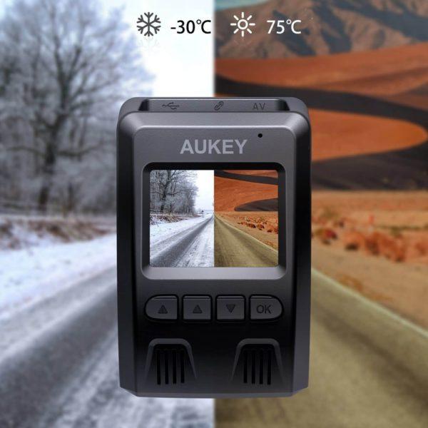 「AUKEY ドライブレコーダー 前後カメラ FHD DR02D」商品特徴:全国のLED信号対応