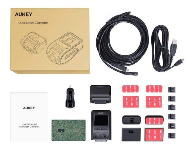 「AUKEY ドライブレコーダー 前後カメラ FHD DR02D」商品内容