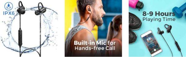 「Mpow S9 Bluetooth イヤホン」の仕様