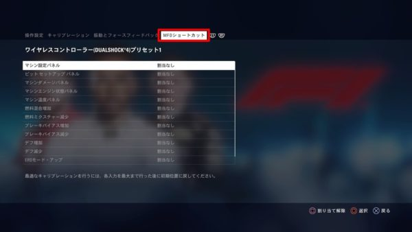 PS4 F1 2018:操作方法