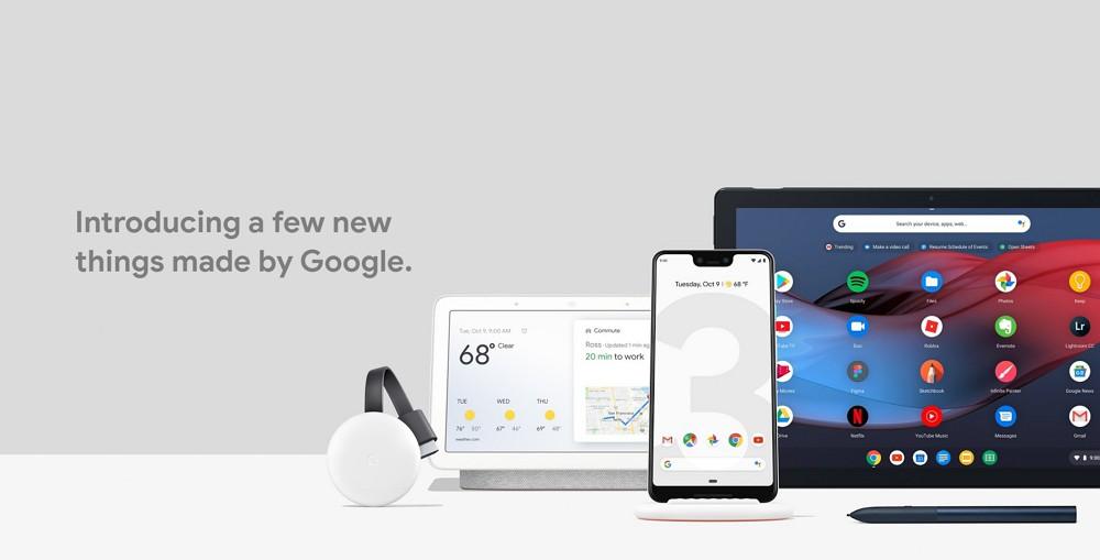 Googleが「Pixel 3/3 XL」「Pixel Stand」「Pixel Slate」「Google Home Hub」を発表!