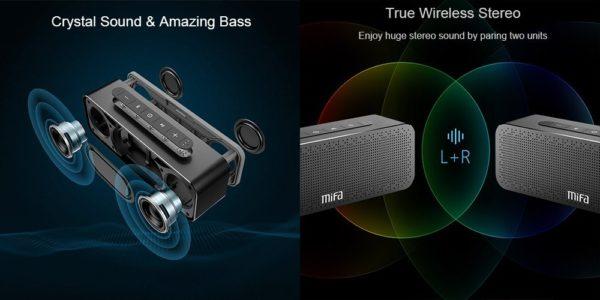「MIFA A20 Bluetooth スピーカー」の特徴