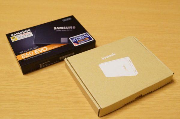 PS4を外付けSSDで高速化!まずはケースにSSDを取り付け!