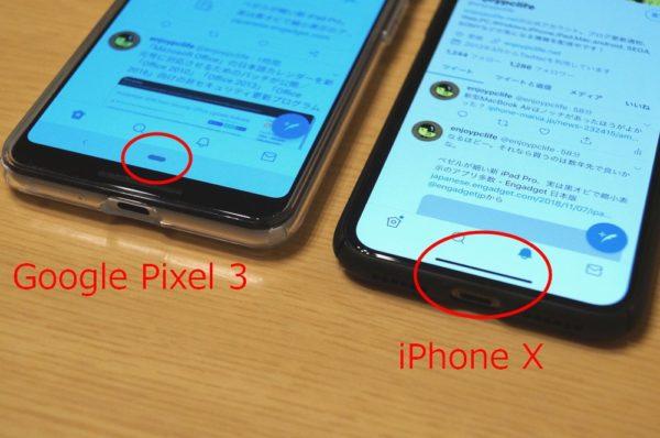 Google Pixel 3 ホームボタン