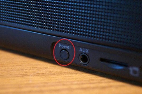 「MIFA A30 Bluetooth スピーカー」の電源オンオフ