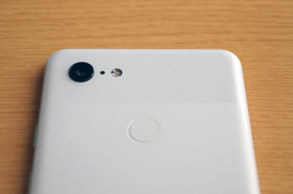 Pixel 3 XL 指紋認証センサー