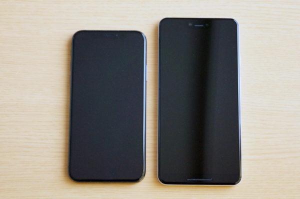 Pixel 3 XLとiPhone Xのサイズやカメラの出っ張りを比較してみた!