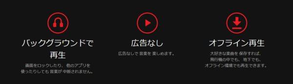 YouTube Music Premiumの利点