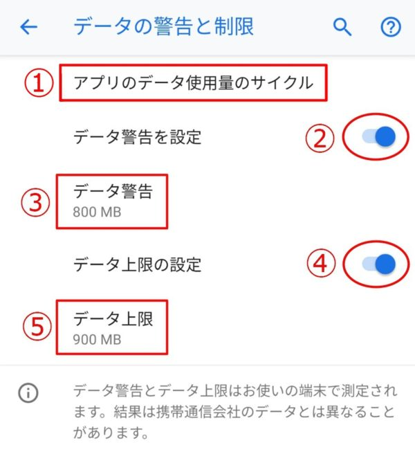 Android 9:アプリのデータ使用量の警告と制限機能を使おう!設定のポイント解説!