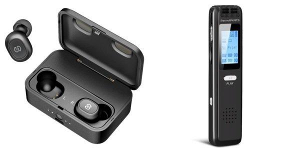 完全ワイヤレスイヤホンの「Q32」と「Nano3 ボイスレコーダー」がクーポン利用で安い!4月28日まで!