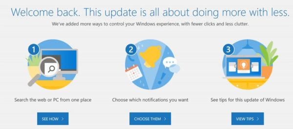 「Windows 10 May 2019 Update」適用後の画面